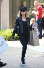 LUCY HALE Out Shopping at Grove in Los Angeles 04/01/2016