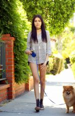 MADISON BEER Walks Her Dog Out in Los Angeles 04/24/2016