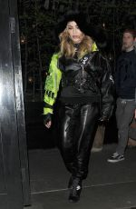 MADONNA Leaves Chiltern Firehouse in London 04/18/2016