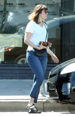 MANDY MOORE in Jeans Out in Hollywood 04/16/2016