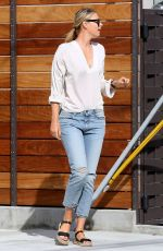 MARIA SHARAPOVA in Ripped Jeans Out in Manhattan 04/24/2016