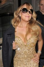MARIAH CAREY Arrives at Her Hotel in Manchester 03/19/2016