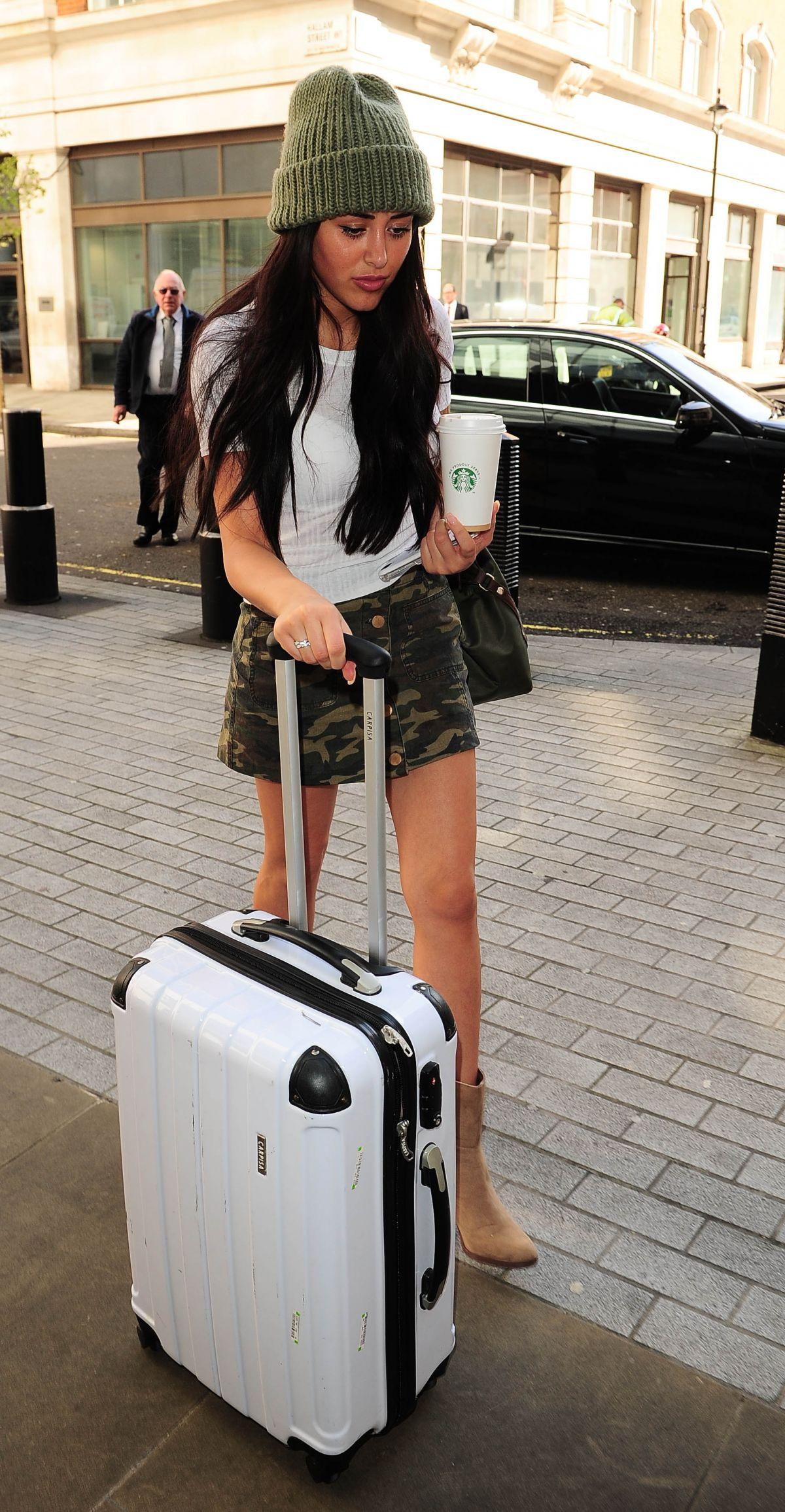 MARNIE SIMSPON Arrives at BBC Radio 1 Studios in Lodon 04/26/2016