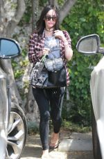MEGAN FOX Leaves Andy Lecompte Salon in West Hollywood 04/29/2016