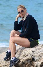 MICHELLE HUNZIKER at Beach in Varigotti 04/13/2016