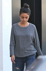 MILA KUNIS Out for Lunch in Beverly Hills 04/03/2016