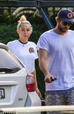 MILEY CYRUS Out in Byron Bay 04/27/2016