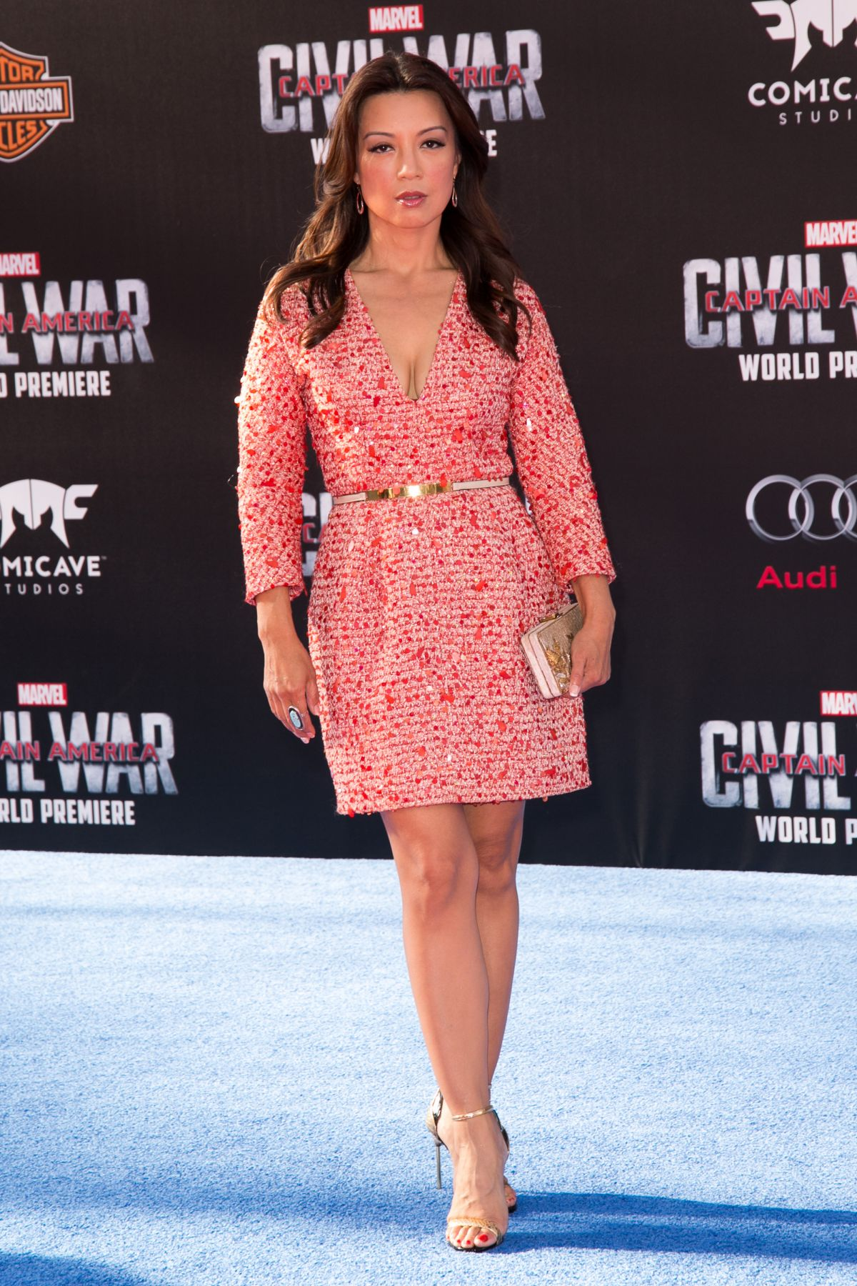 MING-NA WEN at Captain America: Civil War Premiere in Los Angeles 04/12/2016