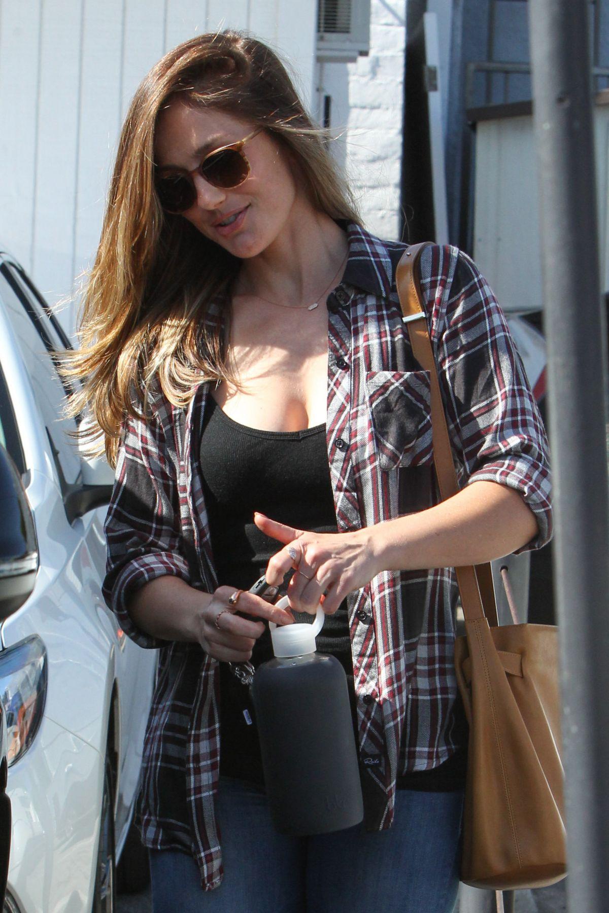 MINKA KELLY Leaves Meche Salon in Beverly Hills 04/27/2016