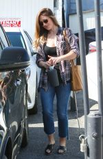 MINKA KELLY Leaves Meche Salon in Beverly Hills 04/27/2016