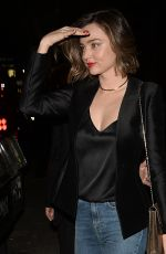 MIRANDA KERR at El Compadre in Los Angeles 04/06/2016