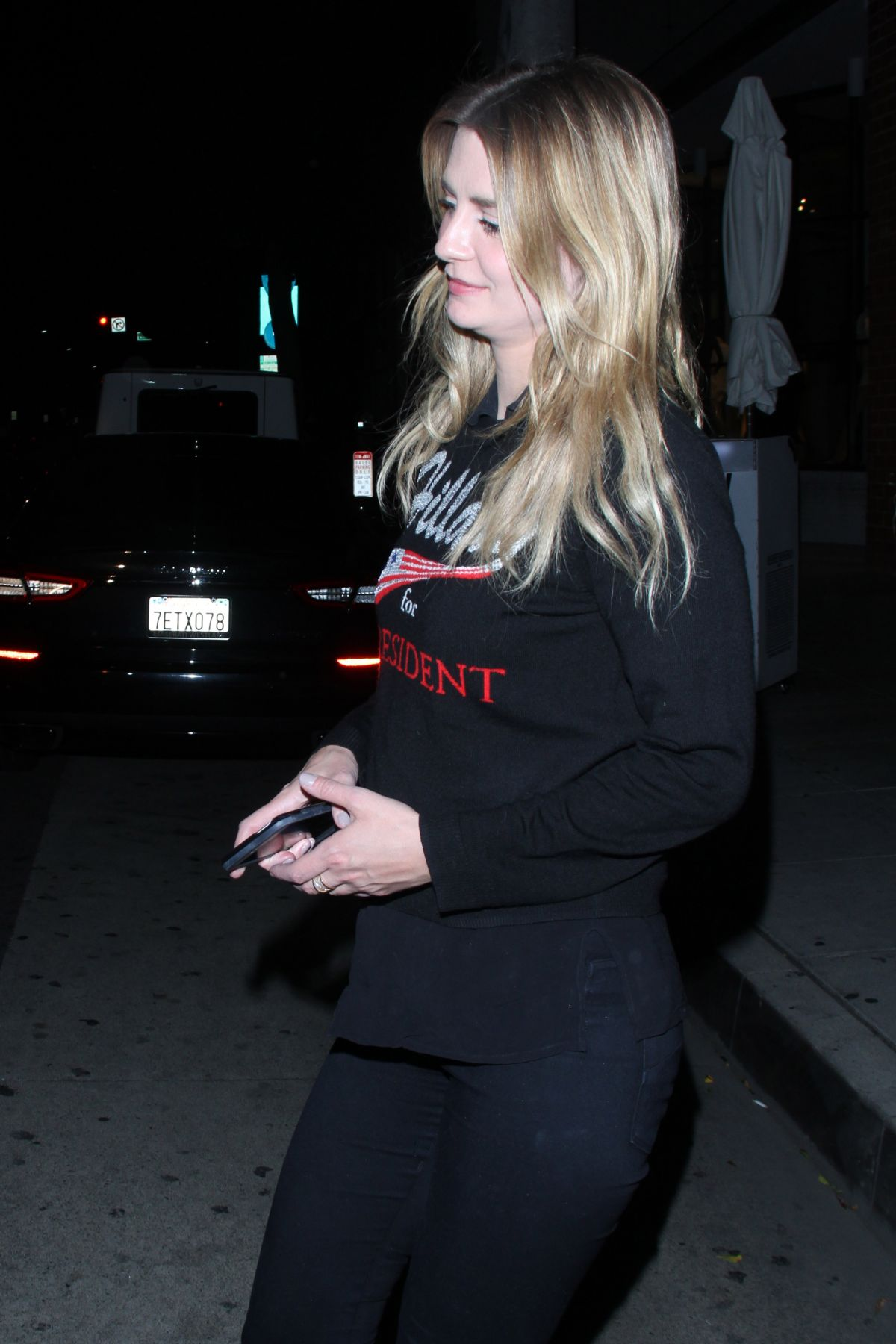 MISCHA BARTON at Mr. Chow in Beverly Hills 04/14/2016