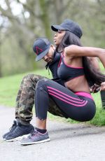 NAOMI HEDMAN Working Out at a Park in London 04/18/2016