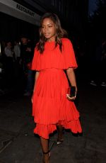 NAOMIE HARRIS Leaves a Restaurant Launch Party in London 04/27/2016