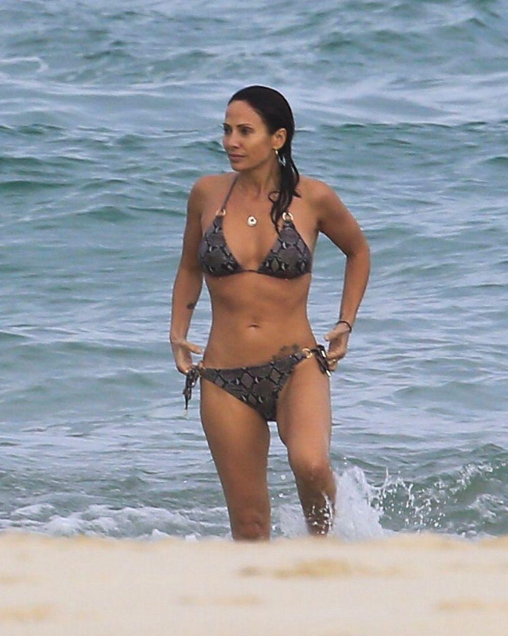 NATALIE IMBRUGLIA in Bikini at a Beach in Byron Bay 04/11/2016