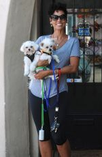 NICOLE MURPHY and Her Dogs Out in West Hollywood 04/21/2016