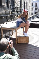NINA AGDAL for New Era Campaign Photosoot in New York 04/13/2016