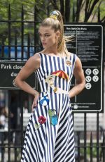 NINA AGDAL on the Set of a Photoshoot in New York 04/25/2016