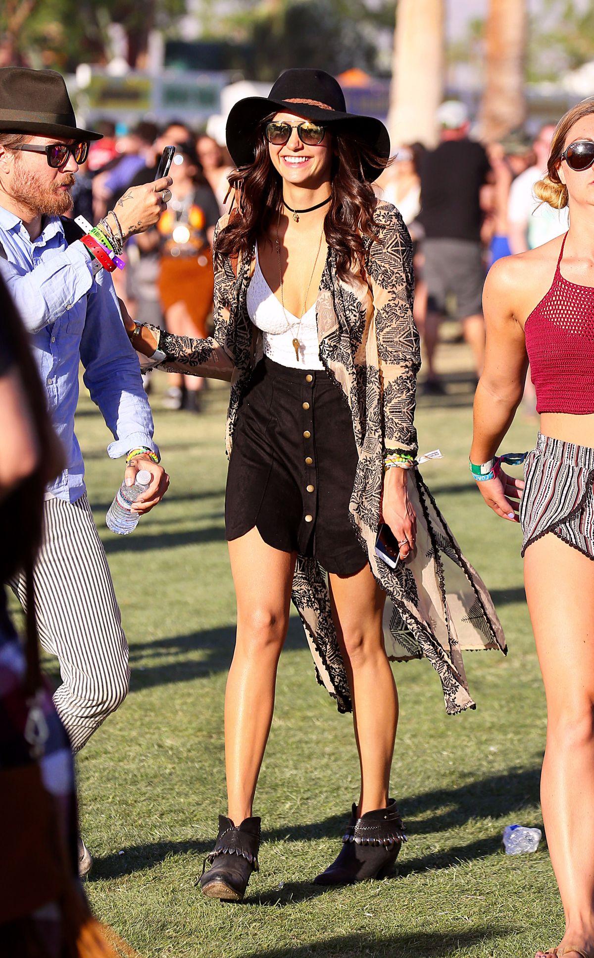 NINA DOBREV at 2016 Coachella Valley Music and Arts Festival in Indio 04/15/2016