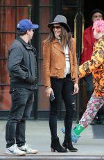 NINA DOBREV Leaves Her Hotel in New York 04/10/2016