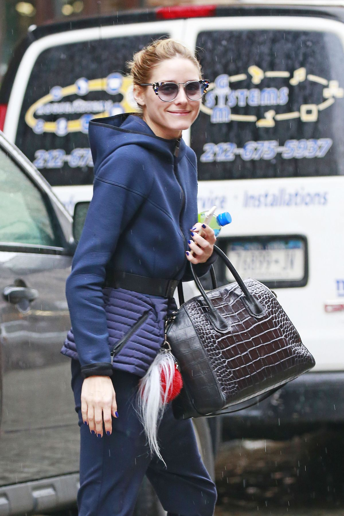 OLIVIA PALERMO Out and  About in New York 04/04/2016