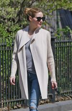 OLIVIA PALERMO Out and About in New York 04/18/2016