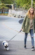 OLIVIA PALERMO Walks Her Dog at a Park in Brooklyn 04/25/2016