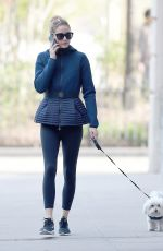 OLIVIA PALERMO Walks Her Dog Out in New York 04/19/2016