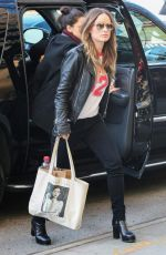 OLIVIA WILDE Out and About in New York 04/14/2016