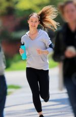 OLIVIA WILDE Out Jogging in New York 04/11/2016