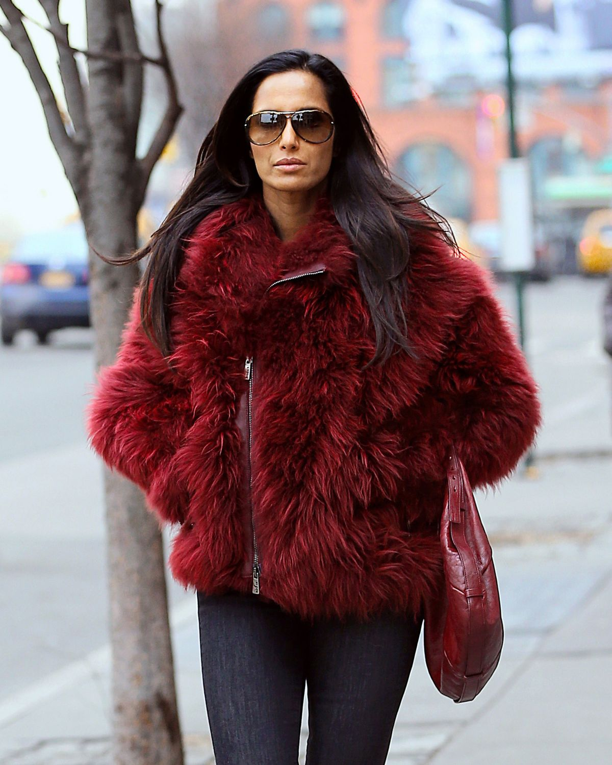 PADMA LAKSHMI Out and About in New York 04/22/2016