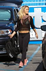 PAIGE VANZANT Leaves Dancing with the Stars Rehersal in Hollywood 04/14/2016