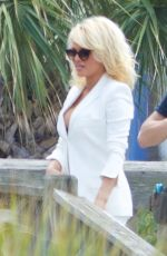PAMELA ANDERSON on the Set of
