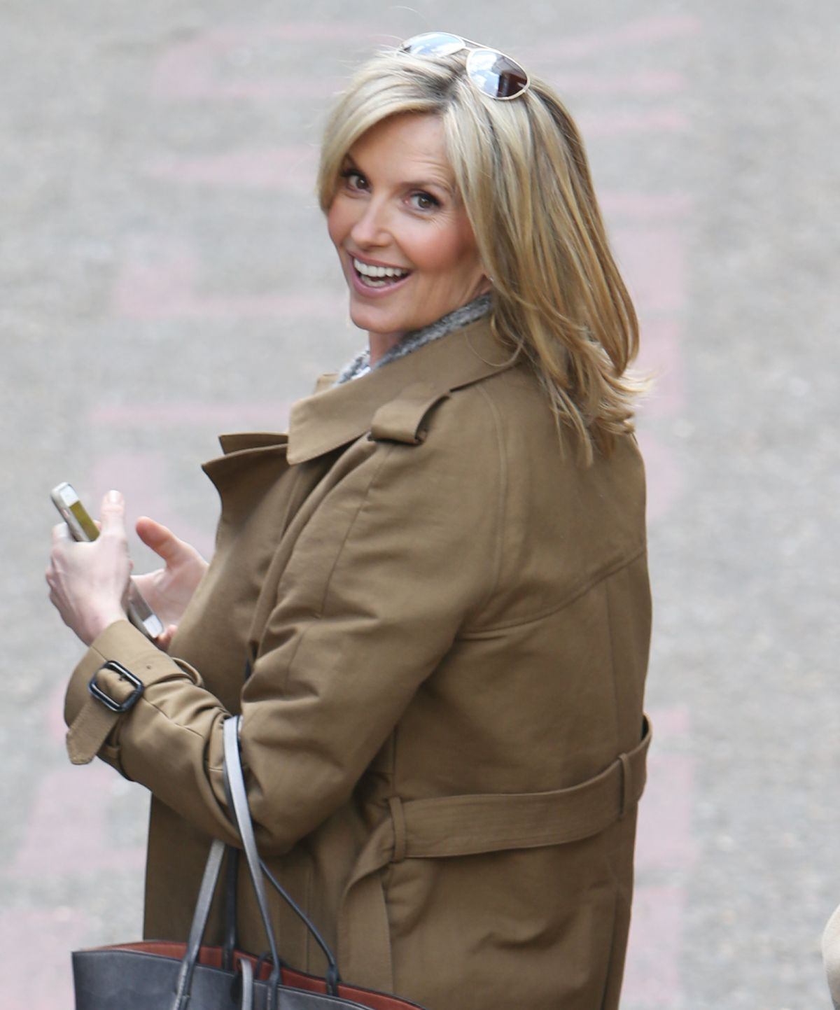 PENNY LANCASTER Leaves ITV Studios in London 04/28/2016