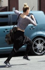 PETA MURGATROYD Arrives at DWTS Studio in Hollywood 04/22/2016