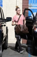 PETA MURGATROYD Arrives at DWTS Studio in Hollywood 04/27/2016
