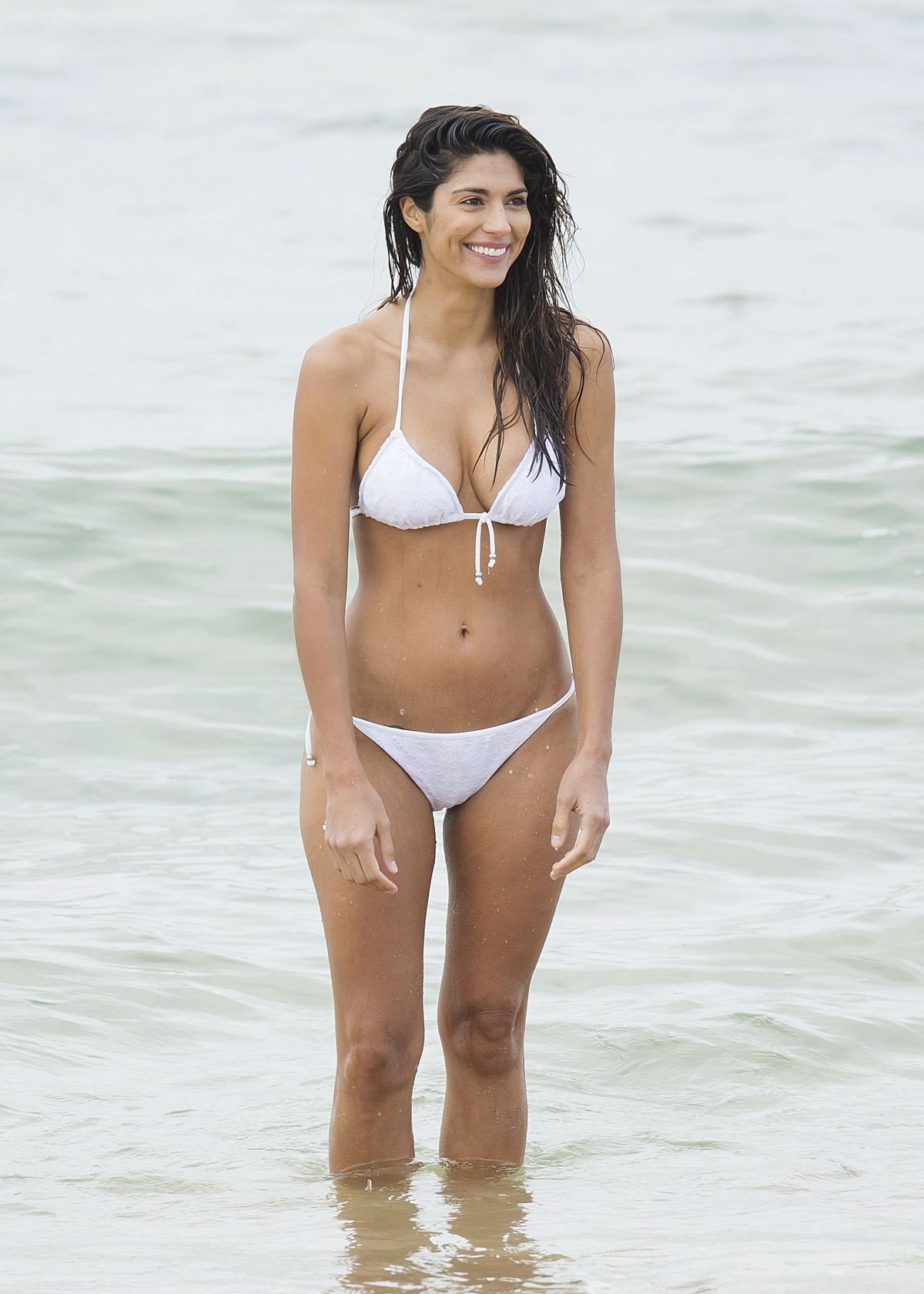PIA MILLER in Bikini on the Set of 'Home and Away' in Sydney 04/14 ...