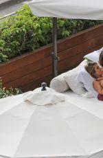 Pregnant AUDRINA PATRIDGE in Bikini at a Pool in Honolulu 04/13/2016