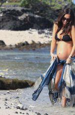 Pregnant MEGAN FOX at a Beach in Hawaii 04/22/2016