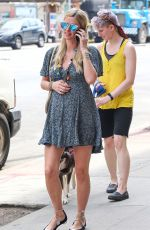 Pregnant NICKY HILTON Out and About in New York 04/22/2016