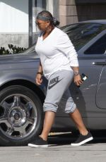 QUEEN LATIFAH Out and About in West Hollywood 04/21/2016