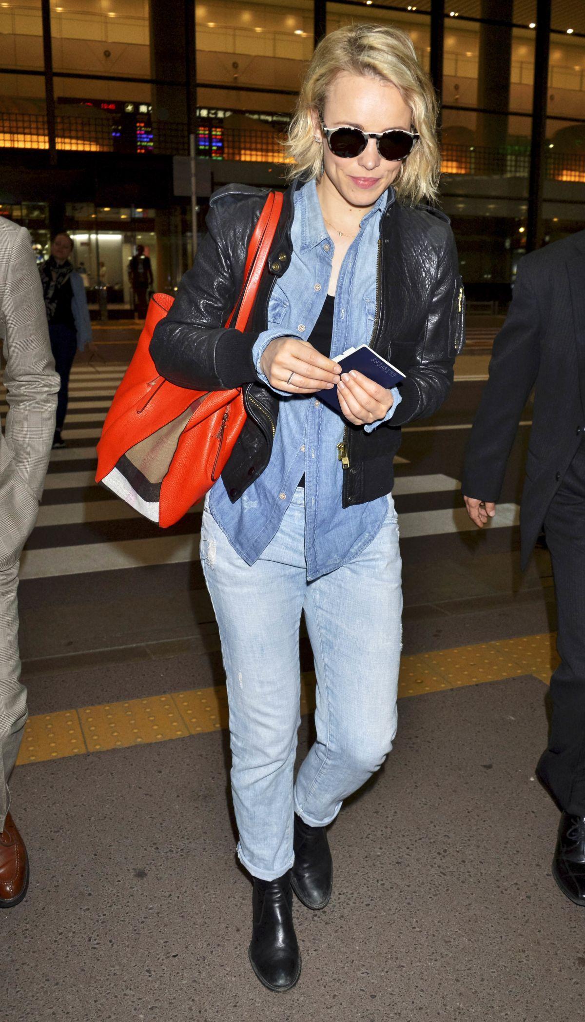 RACHEL MCADAMS at Narita International Airport in Tokyo 04/13/2016