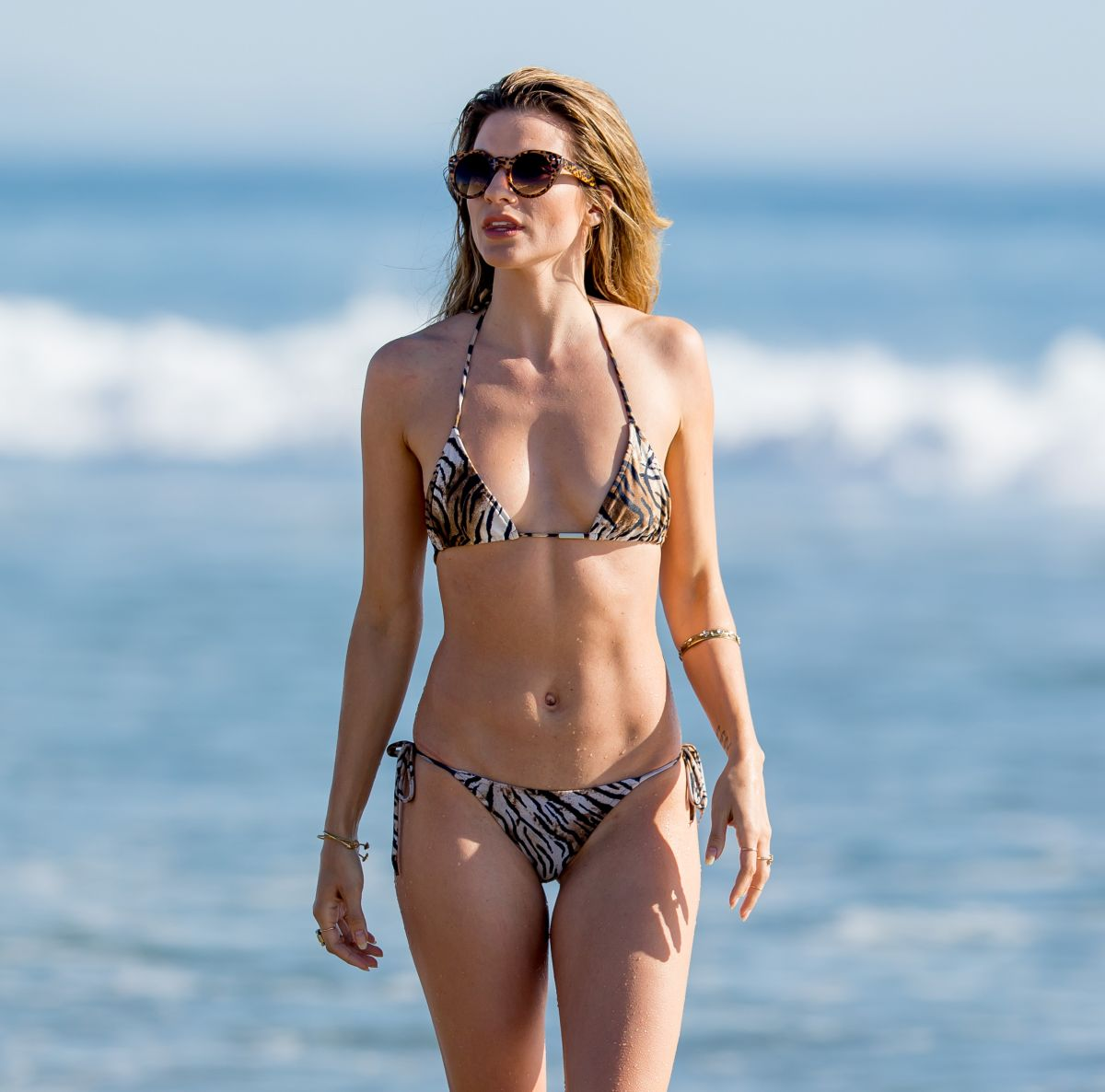 RACHEL MCCORD in Bikini at a Beach in Los Angeles 04/18/2016