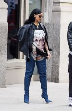 RIHANNA Out and About in New York 04/02/2016