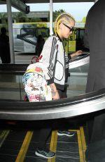 RITA ORA at Los Angeles International Airport 04/07/2016