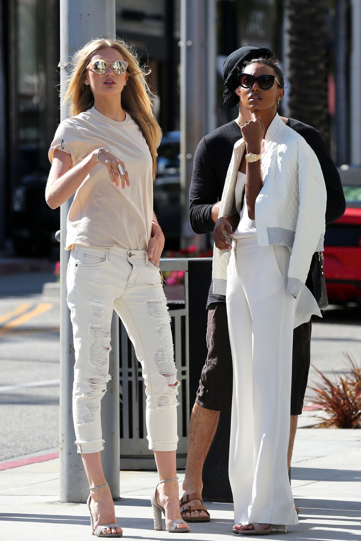 ROMEE STRIJD and JASMINE TOOKES Out in New York 04/13/2016
