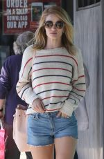 ROSIE HUNTINGTON-WHITELEY in Denim Shorts Out in Los Angeles 04/02/2016