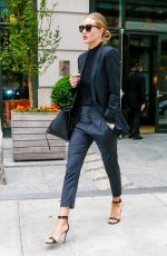 ROSIE HUNTINGTON-WHITELEY Leaves Her Hotel in New York 04/28/2016