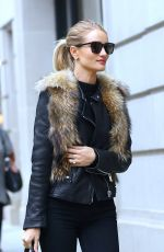 ROSIE HUNTINGTON-WHITELEY Out and About in New York 04/29/2016