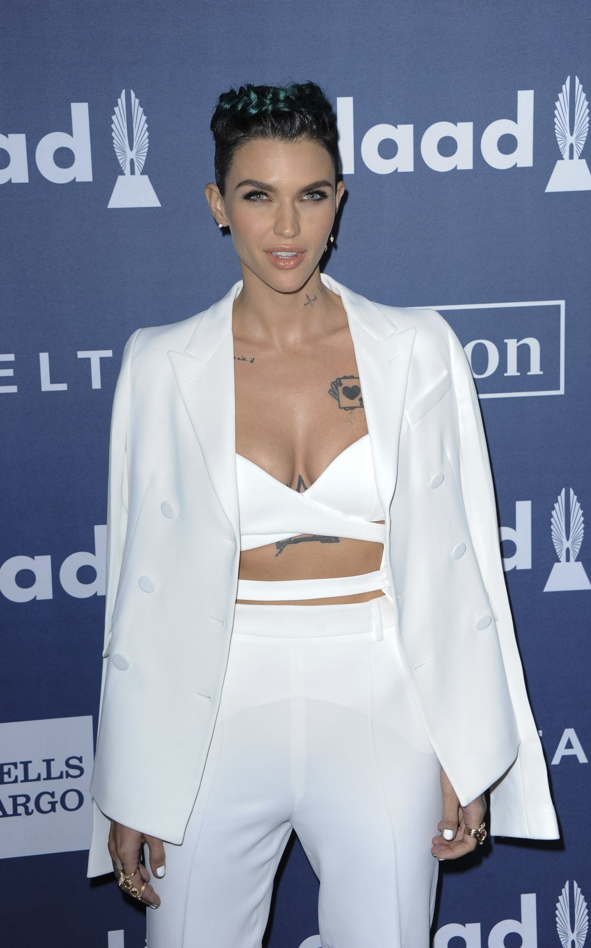 RUBY ROSE at 2016 Glaad Media Awards in Beverly Hills 04/02/2016